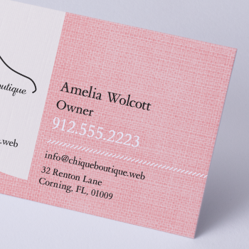 Business Card Linen