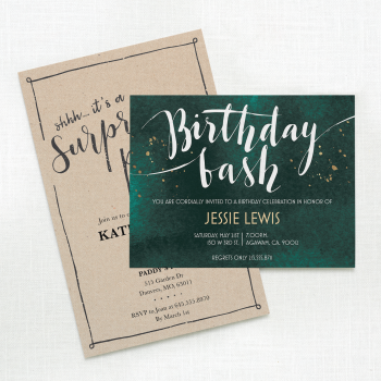 Birthday Adult Invitation