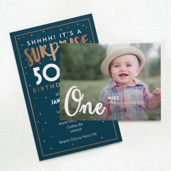 Milestone Birthday Invitation