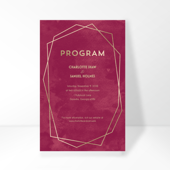 Wedding Program Image