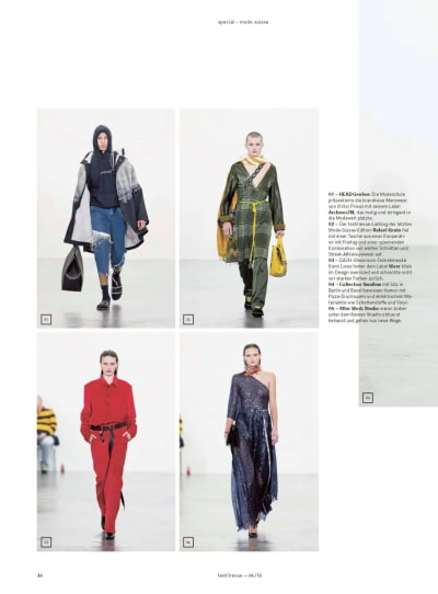 "Press ""Textilerevue"" - Special Mode Suisse - © Visual Society"