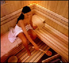 mind relaxation at sauna
