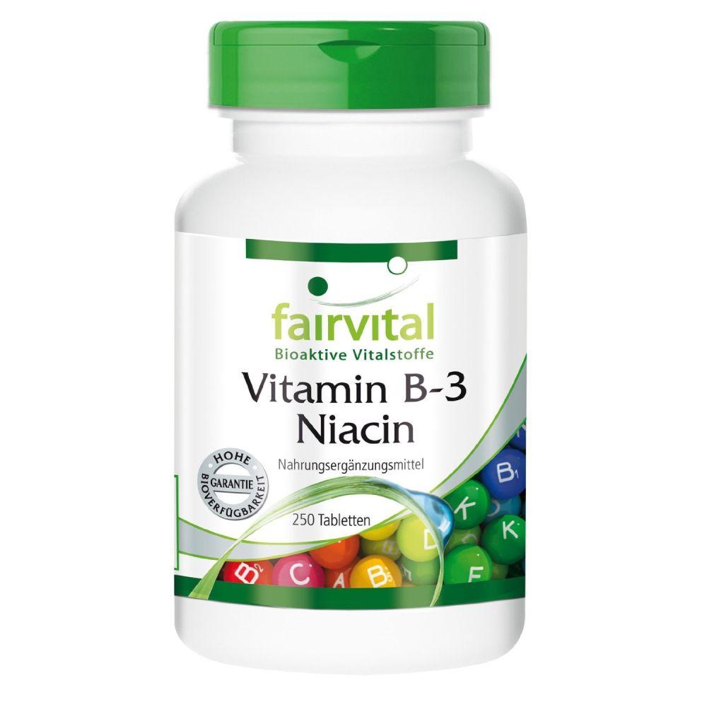 vitamin b 3 niacin 250 tabletten von fairvital. Black Bedroom Furniture Sets. Home Design Ideas