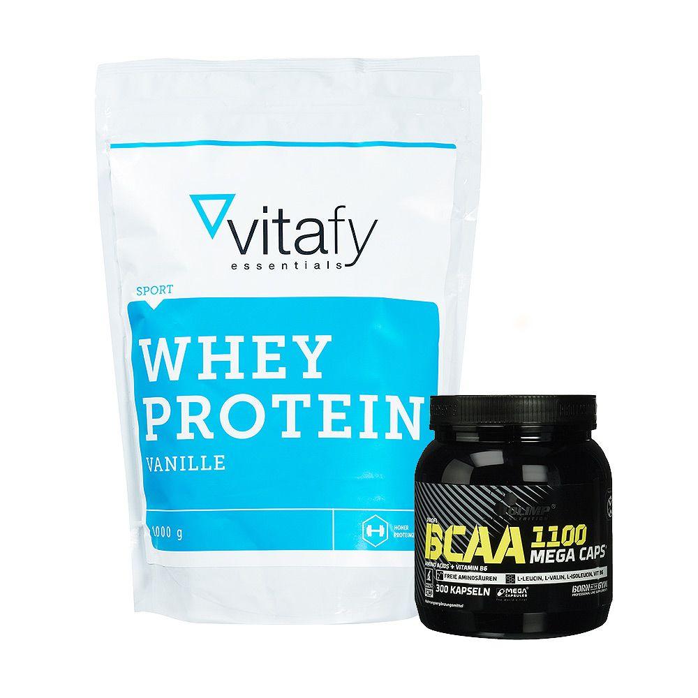 Whey Protein Essentials 1000g Olimp Bcaa Mega Caps 1100 300