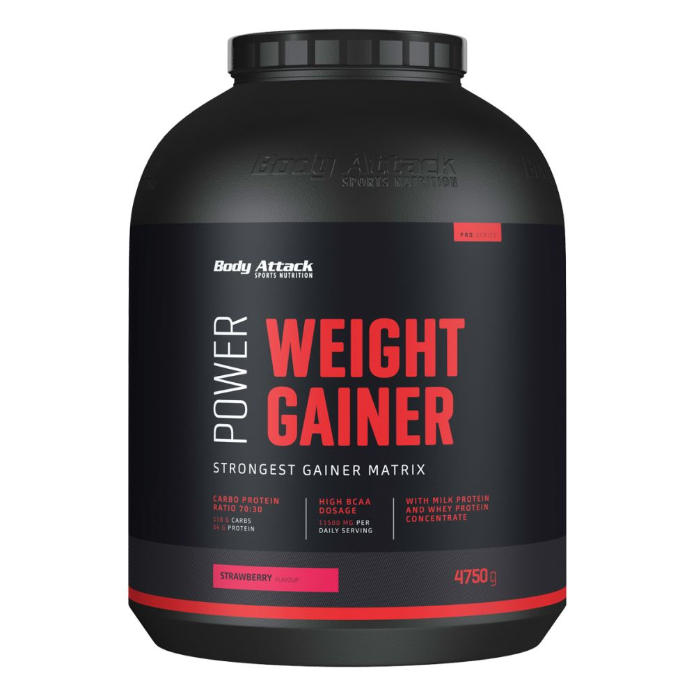 Body Attack Power Weight-Gainer - 4750g - Strawberry