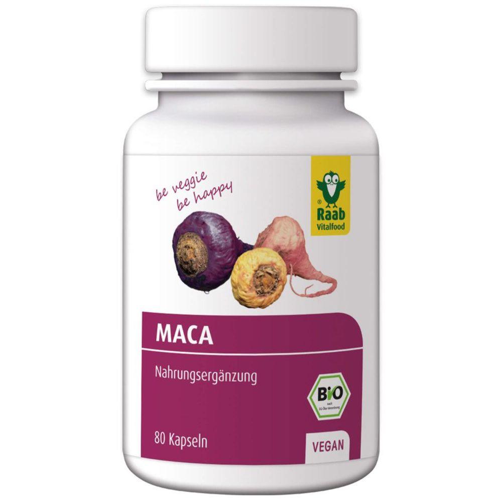 Raab Vitalfood Maca Pulver - Nahrungsergänzungsmittel 80 Kapseln