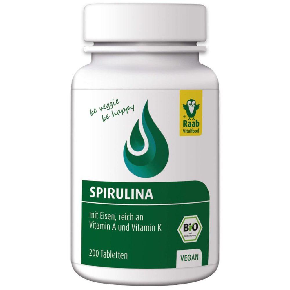 Raab Vitalfood Bio Spirulina Tabletten (200 Tabletten)