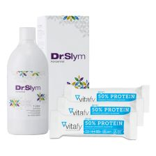 DrSlym Konzentrat (1000ml) + 50% Protein Riegel (12x45g)