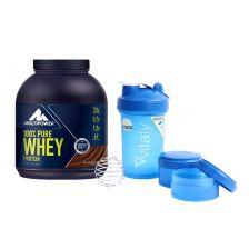 100% Pure Whey Protein (2000g) + Blender Bottle Vitafy Prostak (650ml)