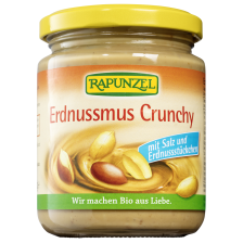 Crunchy peanutbutter with salt bio (250g)