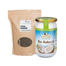 Chia Samen (1000g) + Dr. Goerg Kokosöl (1000ml)