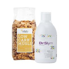 Low Carb Müesli (525g) + DrSlym Konzentrat (500ml)