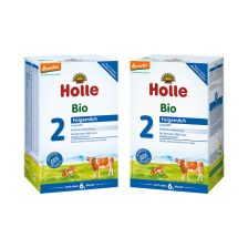 2x Holle Bio-Folgemilch 2 nach dem 6. Monat (2x600g)
