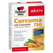 Curcuma 750 mit Curcumin + Vitamin D3 1000 I.E. (30 Kapseln)