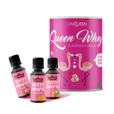 Whey Milky Flamingo (300g) + 3 x Tasty Drops (3x30ml)
