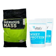 Optimum Nutrition Serious Mass (5454g) + 2 x Vitafy Essentials Whey Protein Essentials (2x1000g)