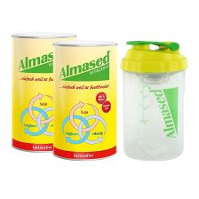 2 x Vitalkost Laktosefrei Pulver Almased (2x500g) + Almased Shaker