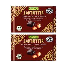 2 x Zartbitter Schokolade 60% mit Nüssen (2x100g)