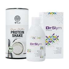 1 x DrSlym (500ml) + 1 x WYLD Bio Protein Shape Shifter Vanille (450g)