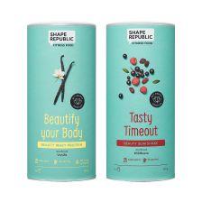 Beauty Protein Vanille + Beauty Slim Shake Wildbeere (2x420g)