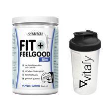 Fit+Feelgood Mahlzeitersatz SLIM (396g) + Vitafy Shaker (600ml)