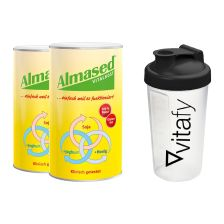 2 x Pulver Almased (500g) + Vitafy Shaker (600ml