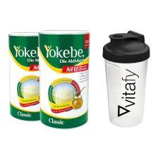 2 x Yokebe Classic (2x480g) + Vitafy Shaker (600ml)