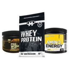 Whey Protein Lemon Cheesecake (1000g) + Gold Standard Pre-Work Out (88g) + Amino Energy (90g)