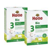 2 x Bio-Folgemilch 3 auf Ziegenmilchbasis ab dem 10. Monat (2x400g)