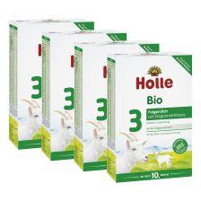 4 x Bio-Folgemilch 3 auf Ziegenmilchbasis ab dem 10. Monat (4x400g)