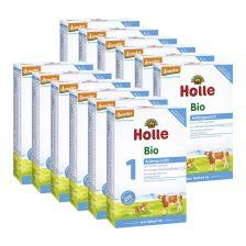 12x Holle Bio-Anfangsmilch 1, von Geburt an (12x400g)