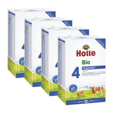 4x Holle Bio Kindermilch 4 (600g)