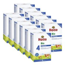 12 x Holle Bio Folgemilch 4 ab dem 12. Monat (12x600g)