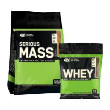 Serious Mass (5600g) + ON Green Whey Chocolate (891g)