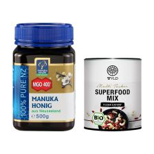 "Manuka Honig MGO 400+ (500g) + WYLD Bio Superfood Mix ""Multi Tasker"" (250g)"