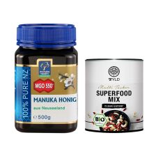 "Manuka Honig MGO 550+ (500g) + WYLD Bio Superfood Mix ""Multi Tasker"" (250g)"