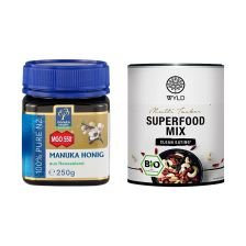 "Manuka Honig MGO 550+ (250g) + WYLD Bio Superfood Mix ""Multi Tasker"" (250g)"