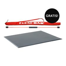 "FLEXI-BAR® + Übungs-DVD + FLEXI-SPORTS Functional Bodenmatte + Übungs-DVD ""Training mit dem Funktionalen Boden"" + FLEXI-BAR® Protection Bag gratis!"