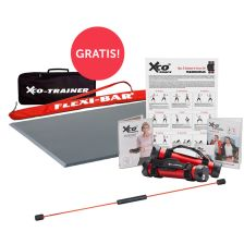 "FLEXI-BAR + Übungs-DVD + Flexi-Sports Functional Training Bodenmatte + Übungs-DVD ""Training mit dem Funktionalem Boden"" + XCO Premium Set + FLEXI-BAR Protection Bag gratis + XCO Tasche gratis!"