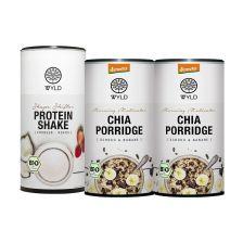 "2x Demeter Chia Porridge Schoko & Banane ""Morning Motivator"" (350g) + Bio Protein Shape Shifter  (450g)"