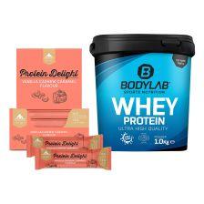 Protein Delight Cashew Caramel (18x35g) + Bodylab24 Whey Protein (1000g)