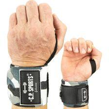 Strongman Wrist Wraps - Camouflage White