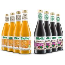 4 x Breuss Antioxidant* bio (4x500ml) + 4 x Vital Immun* (4x500ml)