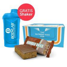 Energy Cake Riegel (24x125g) + Bodylab 24 Shaker