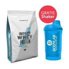 Myprotein Impact Whey Protein (2500g) + GRATIS Bodylab 24 Shaker