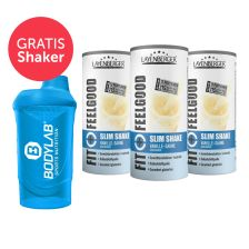 3 x Fit+Feelgood Mahlzeitersatz SLIM (3x396g) + Bodylab 24 Shaker gratis!