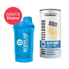 Fit+Feelgood Mahlzeitersatz SLIM (396g) + Bodylab 24 Shaker