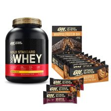 100% Whey Gold Standard (2273g) + Whipped Protein Bars (10x60g)