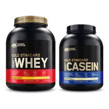 Whey Gold Standard (2273g) + 100% Casein (1818g)