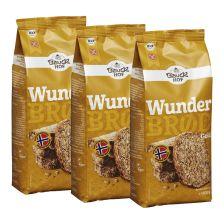 3 x Bio Backmischung Wunderbrød Gold (3x600g)